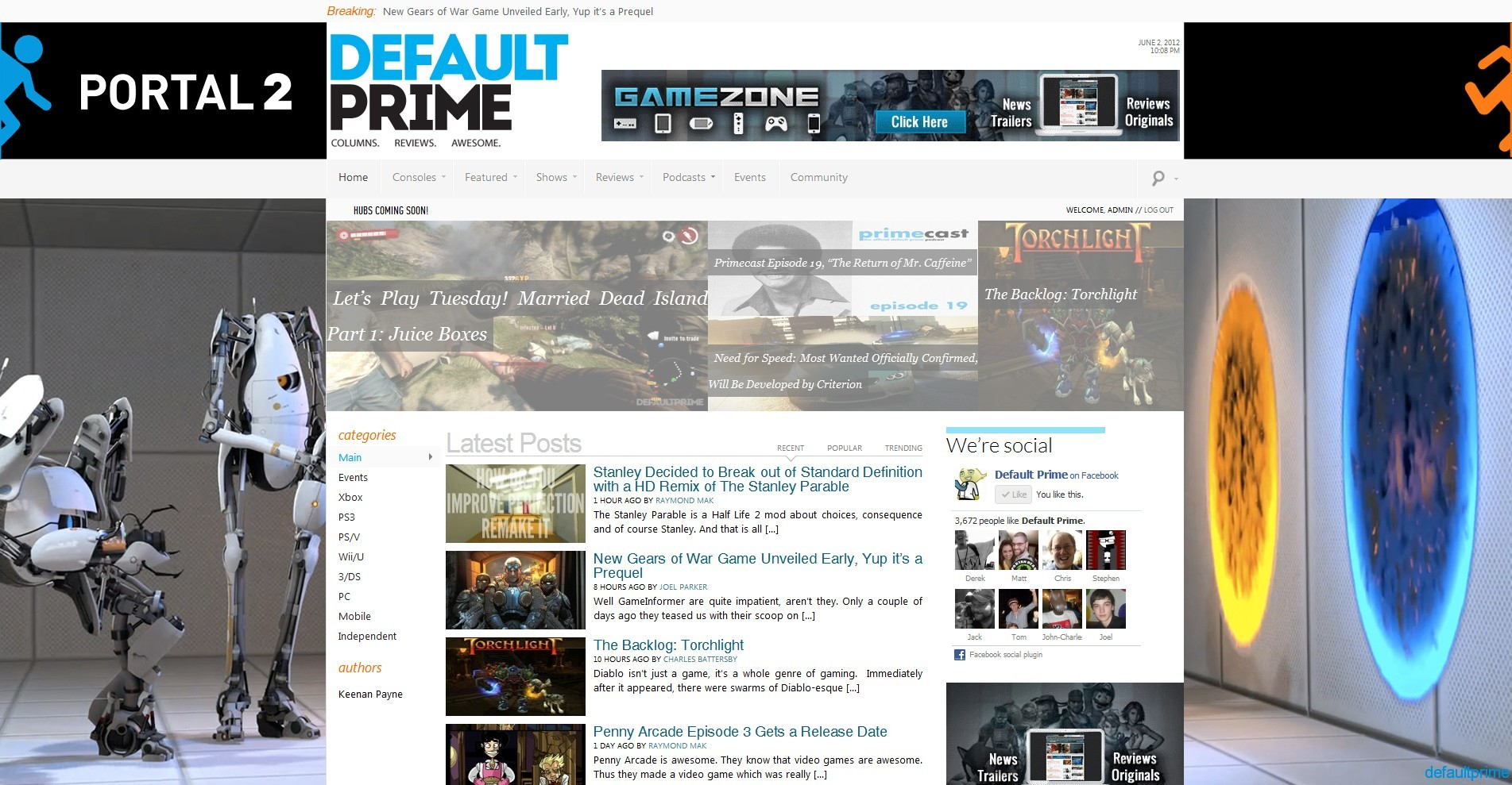 default prime fullpage ad Advertising