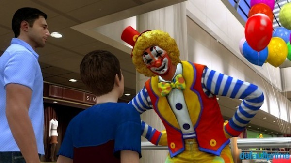 Heavy rain mall clown 600x337 The Catch Up: Heavy Rain (Some Spoilers)