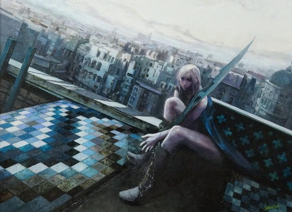 5043e830 Lightning Returns Final Fantasy XIII Lightning Oil Painting Artwork 600x435 Final Fantasy XIII Is A Trilogy I Didnt See Coming