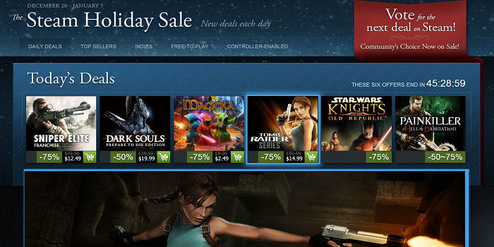 Steam Holiday Sale 2013 Gaming Goals of 2013